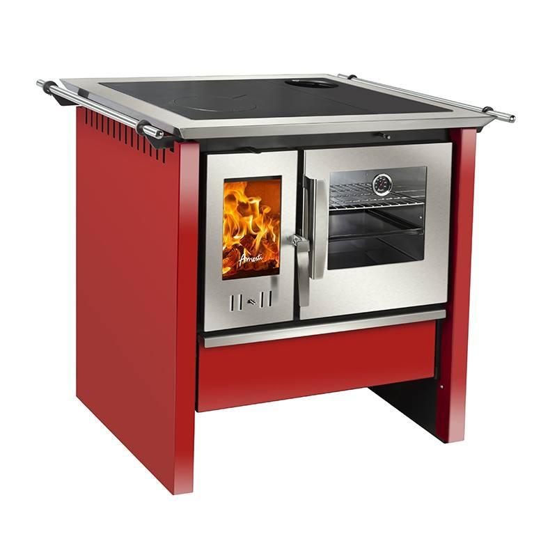 Cocina a leña Allegra Roja